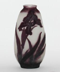 GROSSE EMILE GALLE NANCY JUGENDSTIL CAMEO GLAS VASE LILIE IRIS ART NOUVEAU GLASS