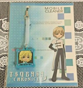 NEW Tsubasa Reservoir Chronicle Mobile Cleaner Phone Strap 4 Type Official Japan