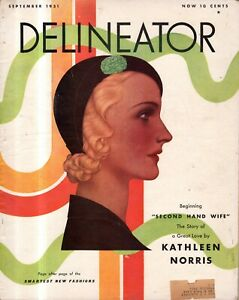 1931 Delineator September - Porto Rico; Second Hand Wife; Paper Doilies; Sex