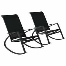 vidaXL Tuinschommelstoelen 2 st textileen zwart