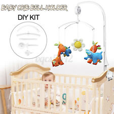INSMA 4Pcs Baby Crib Mobile Bed Bell Toy Holder Arm Bracket + Wind-up Music U D