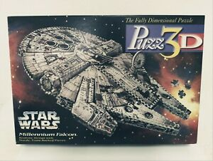 Puzz-3D Star Wars Millennium Falcon The Fully Dimensional Puzzle 1995!