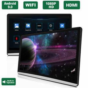 "2X12.5"" Android 9.0 Car Headrest Monitor Screen 1080P WIFI Bluetooth USB HDMI FM"