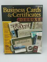Compu Works Business Cards & Certificates Deluxe PC CD Software 1998 * NOS *