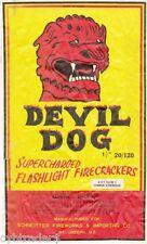 Firecracker Devil Dog Image Refrigerator / Tool Box Magnet  Man Cave