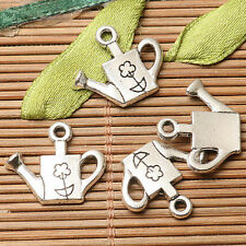 24pcs dark silver color  flower  watering can  design charms  EF2763