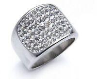 Tribal Spirit Ring Edelstahl mit Swarovski Elements Kristalle schmuckrausch