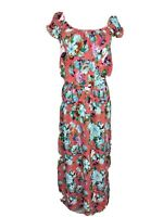 New York Laundry Size S Maxi Floral 100% Viscose Sheared Cap Sleeved Dress