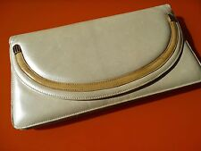 Bruno Magli vintage Damentasche Clutch Tasche Ledertasche TOP