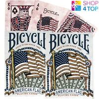 2 Mazos De Bicycle Americana Bandera Poker Juego Baraja Cartas Heritage Historia