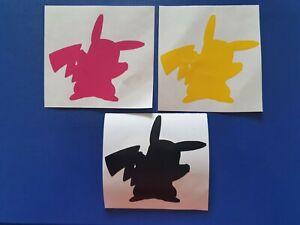Pokemon Inspired Pikachu Silhouette VInyl Decal for phone tablet car Sticker