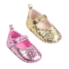 Newborn Baby Girl Kids Glitter Crib Shoes Anti-slip Soft Sole Sneakers Prewalker