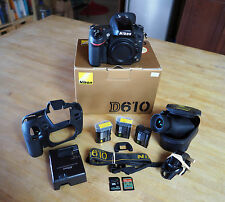 Nikon D D610 24.3MP fotocamera digitale reflex Ottime condizioni con molti extra