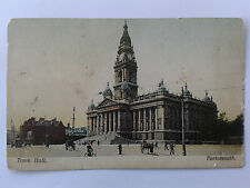 Very Old Postcard - Portsmouth Town Hall
