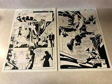 NIGHTMARE #3 original art 2 PGS 1994 DR STRANGE villain CLUB FEAR Marvel SPLASH