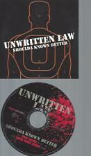 CD--UNWRITTEN LAW SHOULDA KNOW BETTER  //   PROMO