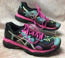 Women's ASICS Gel Kayano 23 Black Running Training Athletic Shoes Size 6.5