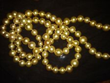 "SOUTH SEA GOLDEN PEARL necklace, 14.5 mm - 10.5 mm, 47"" long  GENUINE! RARE!"