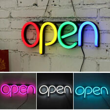 More details for top quality super bright led open shop sign neon display window hanging light uk