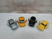 Volkswagen SS 7707 Bright Yellow Diecast 1:24 plus 3 others Lot Bug Beatle