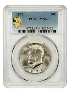 1974 50c PCGS MS67+ - Kennedy Half Dollar - Tied for Finest Known