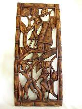 Schöne ältere Holzschnitzerei aus Afrika Teak Holz hand-geschnitzt 76 cm hoch