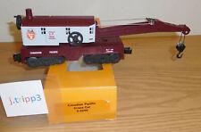 LIONEL 6508 CANADIAN PACIFIC CP BEAVER CRANE CAR O GAUGE TRAIN FREIGHT BOOM HOOK