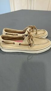 New Sperry Top Sider Womens Shoes Tan Leather Boat 8