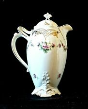 HERMANN OHME  Exc.Cond. Clairon Hand Painted Chocolate/Coffee/Tea Pot 1892-1918