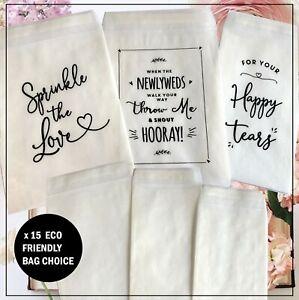 Confetti & Tissue Glassine Bags Plain or printed biodegradable x 15 Peel + Seal