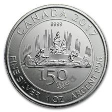 2017 CANADA Voyageur $5 Canada 150th anniversary silver maple leaf silver 1 oz.