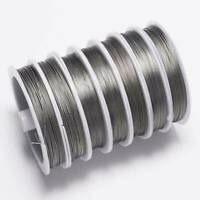 1 Roll 100M Resistant Stainless Steel Beading Wire 0.45mm DIY Jewellery Making