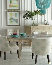 White and Grey Distressed Finish Doucette Dining Table Horchow Neiman Marcus