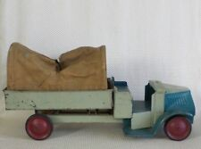 Great Vintage 1920s STEELCRAFT Pressed Steel Mack Army Canvas Truck