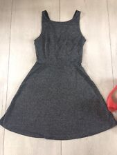 H&M Uk10 M Dress Black Evening Party Skater Swing Silver Black Glitter Sparkle.