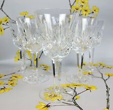 """Set of 6 Waterford Cut Crystal Glass  Red / White Wine Glasses. 5.75"""" RRP £300"""