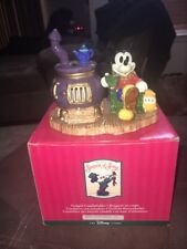 Mickeys Season Of Song Disney Christmas Tealight Candleholder Potbelly Stove