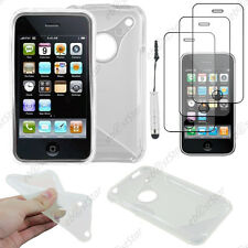 Coque SiliconeS-line Transparent Apple iPhone 3GS 3G+Mini Stylet+3 Film écran