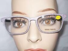 READING GLASSES BURGUNDY DENIM JEANS 7 STRENGTHS SPRING HINGE FREE CASE & SHIP