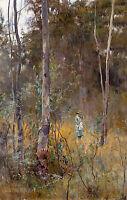 Frederick McCubbin - Lost , 1886, Australian Art, Museum Poster, Canvas Print
