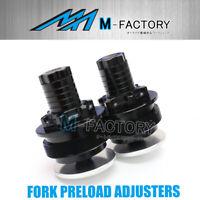 Black Billet Fork Preload Adjuster Cap Fit Honda CB-1 400 NC27 87-94
