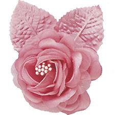 "12 silk roses wedding favor flower corsage mauve dusty rose 2.75"""