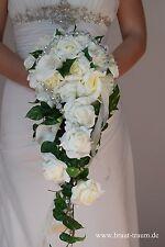 Brautstrauss creme Calla mit Strassband, Hochzeit. Braut, zum Brautkleid