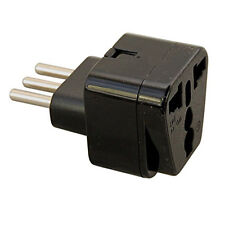 Hqrp Grounded Universal Travel Plug Adapter Japan Europe Uk Swiss India to Italy