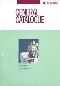Sewing Machine Brochure - Pegasus - Model Catalog  - 1989 (E3935)