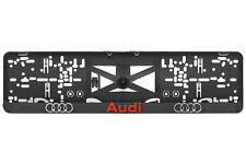 AUDI A1,A2,A3,A4,A5,Allroad 2xECHTE 3D-Effekt Kennzeichenhalter Rot