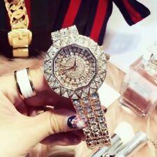Mashali Luxury Women's Rose Gold Full Diamond Sparking Dress Quartz Watches