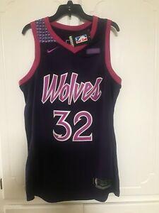 Minnesota Timberwolves 32 Karl-Anthony Towns Purple City Edition Swingman Jersey