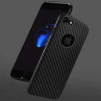Luxury Ultra Thin Shockproof Carbon Fiber Case Cover For Apple iPhone 7 Plus 6 5