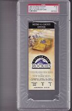 1993 Colorado ROCKIES TICKET stub 1st HOME NIGHT GAME MILE HIGH PSA 1.5 rare 1/1
